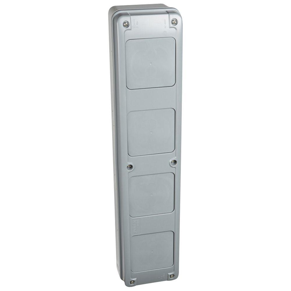 Gaine multifonction pour coffrets Plexo - verticale - 3 rangées