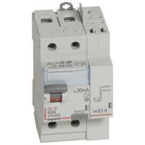 Inter diff DX³-ID - vis/auto - 2P - 230V~ - 63A -type AC - 30mA -départ haut- 3M (411633)