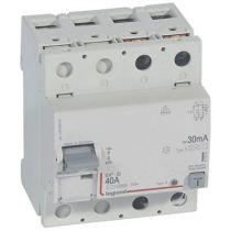 Inter diff DX³-ID - vis/vis - 2P- 230V~- 40A - type B - 30mA - départ bas - 4M (411842)