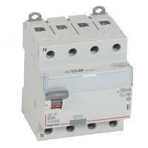 Inter diff DX³-ID - vis/vis - 4P- 400V~- 63A - type Hpi - 30mA - départ bas - 4M (411696)