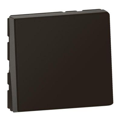 Interrupteur ou va-et-vient 10AX 250V~ Mosaic Easy-Led 2 modules - noir mat (079111L)
