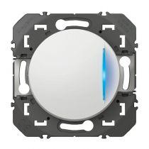 Interrupteur ou va-et-vient avec voyant témoin dooxie 10AX 250V~ finition blanc (600009)