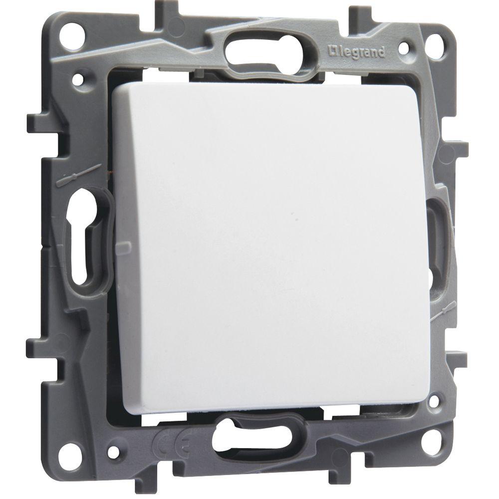 Interrupteur ou va-et-vient Niloé - 10 AX - 250 V~ - Pur