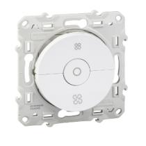 Interrupteur Vmc Blanc Avec Position Arrêt À Vis Odace (S520243)
