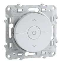 Interrupteur Volet-Roulant Blanc 3 Boutons Montée/Descente/Stop À Vis Odace (S520208)