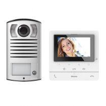 Kit portier vidéo couleur Classe 100 Basique avec écran 5pouces et boucle inductive Blanc (BT364618)