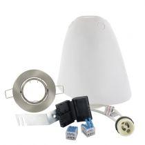 Kit SPOTBOX NO AIR BBC spot LED encastré alu brossé (694893)