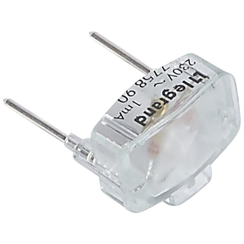 Lampe de rechange Prog Plexo - 230 V - 1 mA verte - pour poussoir simple lum