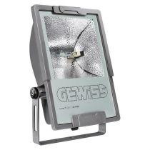 MERCURIO 1 - avec lampe - optique symétrique - 70W MD RX7S 230V-50HZ - IP66 - classe I - gris graphite (84011M)