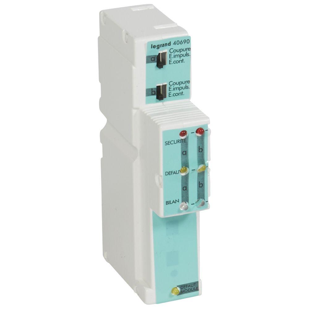 Module 2 lignes mise en sécurité - alarme incendie type 1/2a (040690)