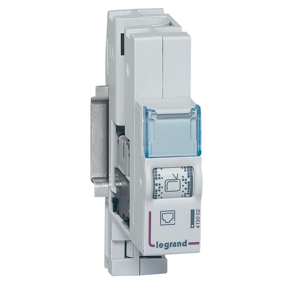 Module de brassage RJ 45 cat.6 FTP - pour coffret de communication