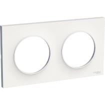 Odace Styl Plaque Blanc 2 Postes Horizontaux Ou Verticaux Entraxe 71Mm Odace (S520704)