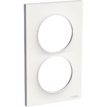 Odace Styl Plaque Blanc 2 Postes Verticaux Entraxe 57Mm Odace (S520714)