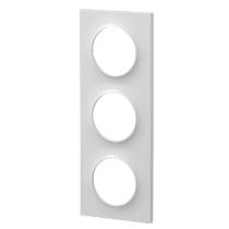 Odace Styl Plaque Blanc 3 Postes Horizontaux Ou Verticaux Entraxe 71Mm Odace (S520706)