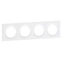Odace Styl Plaque Blanc 4 Postes Horizontaux Ou Verticaux Entraxe 71Mm Odace (S520708)