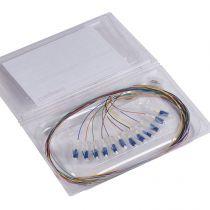 Pigtail OS1/OS2 - 50/125 µm - 12 connecteurs LC-UPC - monomode - L 1m (032624)