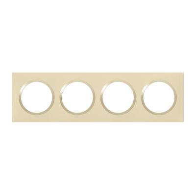 Plaque carrée dooxie 4 postes finition dune (600814)