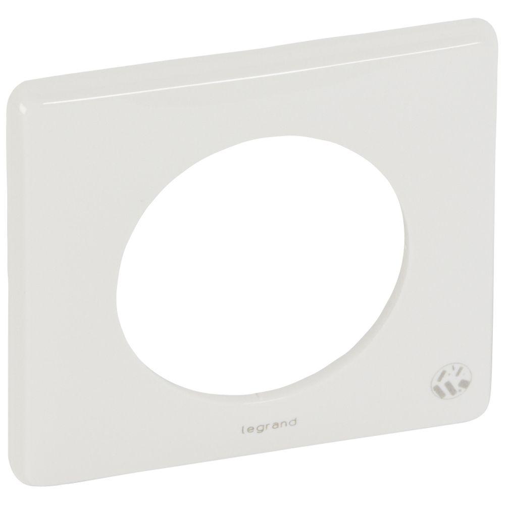 Plaque Céliane - 1 poste - blanc antimicrobien