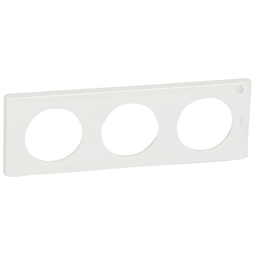 Plaque Céliane - 3 postes - blanc antimicrobien