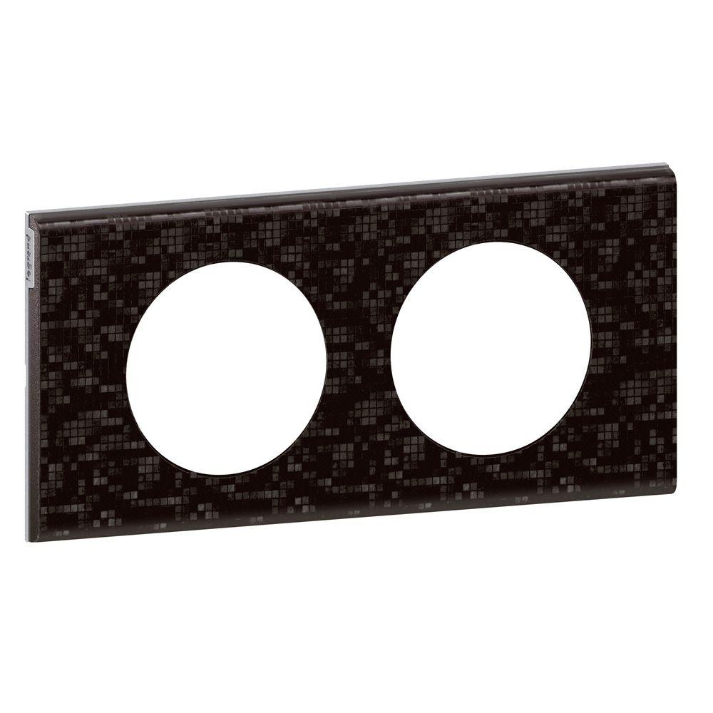 Plaque Céliane - Matières - 2 postes - Cuir Pixel