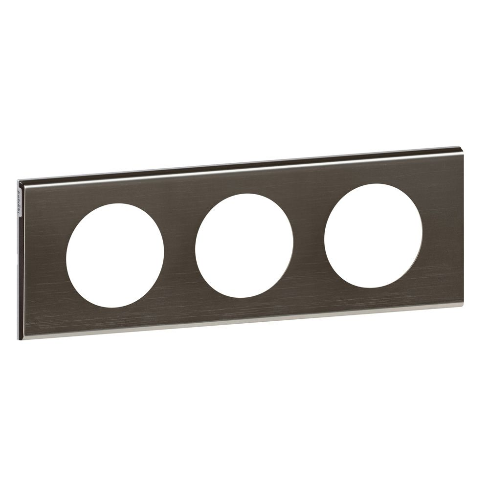 Plaque Céliane - Matières - 3 postes - Black Nickel