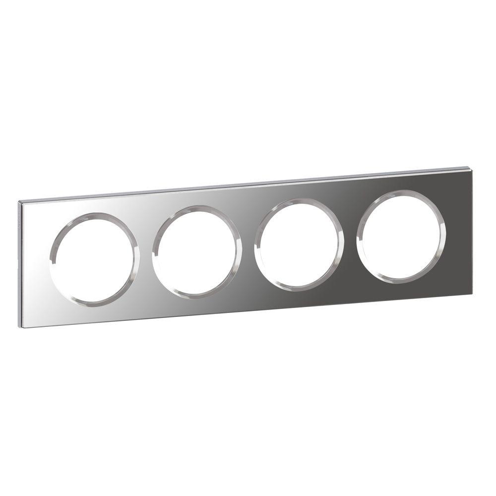 Plaque Céliane - Matières - 4 postes - Verre Miroir
