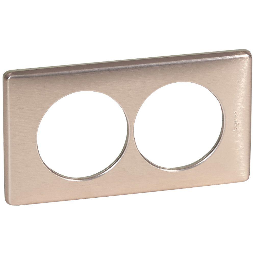 Plaque Céliane - Métal - 2 postes pour rénovation - Copper
