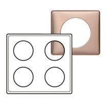 Plaque Céliane - Métal - 2 x 2 postes - Copper
