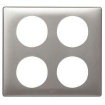 Plaque Céliane - Métal - 2 x 2 postes - Titane