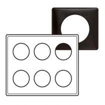 Plaque Céliane - Métal - 2 x 3 postes - Carbone