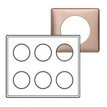 Plaque Céliane - Métal - 2 x 3 postes - Copper
