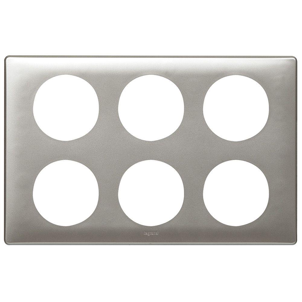 Plaque Céliane - Métal - 2 x 3 postes - Titane