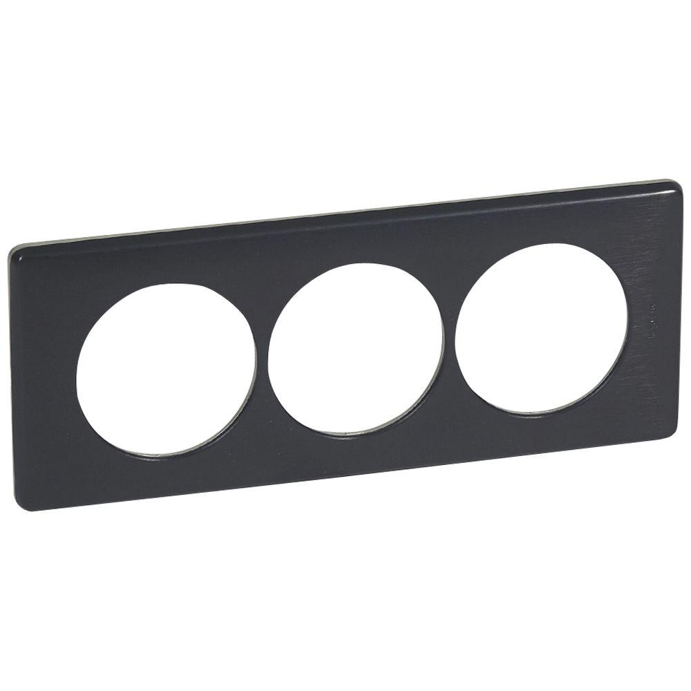 Plaque Céliane - Métal - 3 postes pour rénovation - Carbone