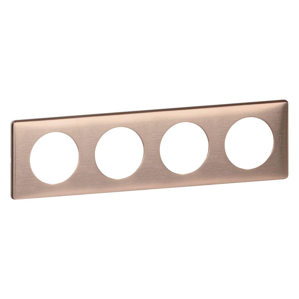 Plaque Céliane - Métal - 4 postes - Copper
