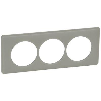 plaque legrand c/éliane 3 postes argile