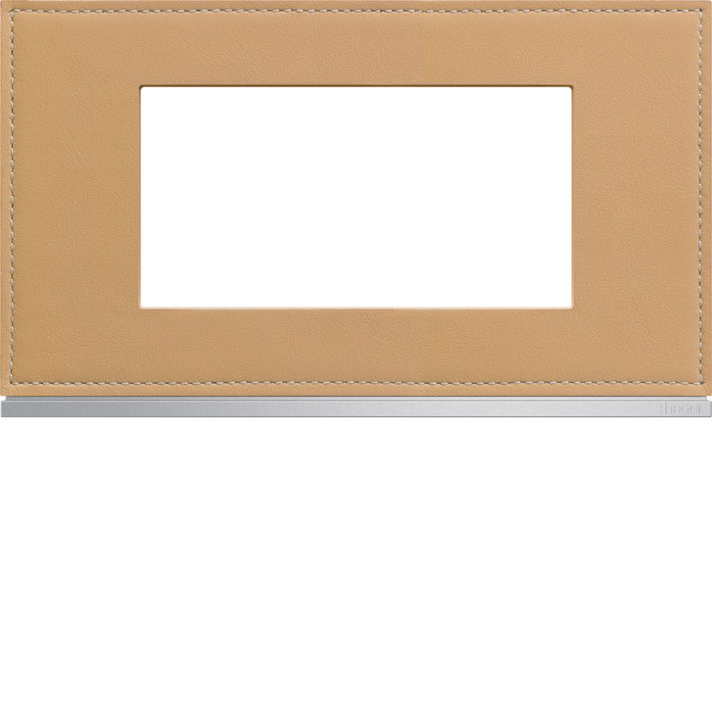 Plaque gallery 4 modules entraxe 57mm matiere cord leather (WXP5134)