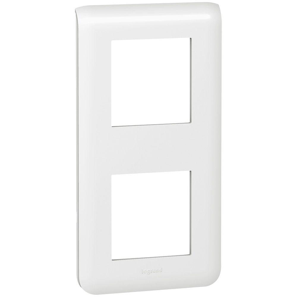Plaque Prog Mosaic - 2x2 modules - vertical - blanc