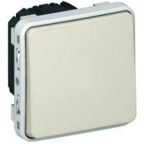 Poussoir NO+NF Prog Plexo composable blanc - 10 A