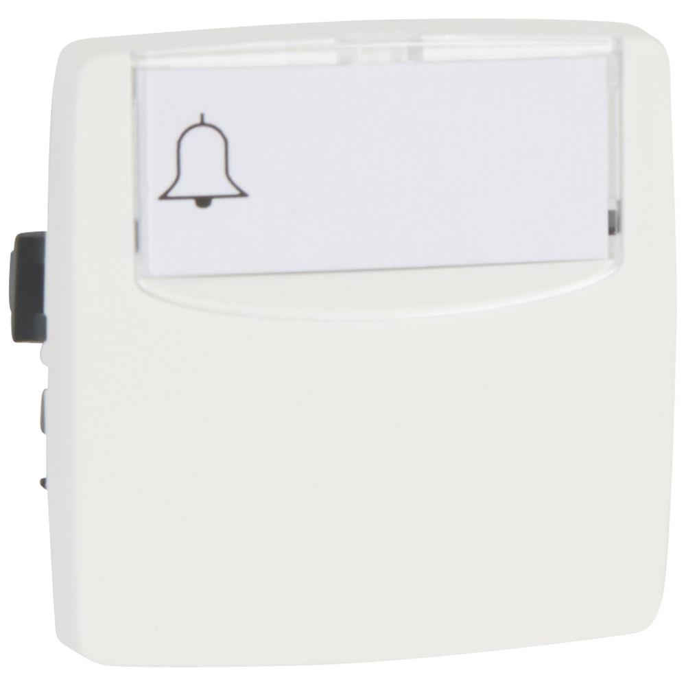 Poussoir porte-étiquette appareillage saillie composable - 6 A - blanc