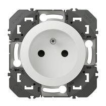 Prise de courant 2P+T à puits dooxie 16A finition blanc (600337)
