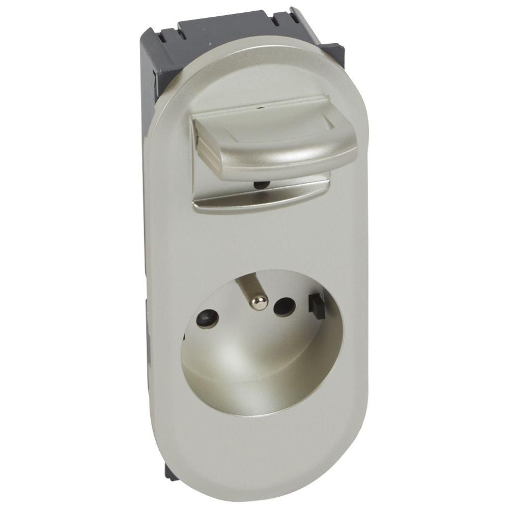 Prise de courant à manip facile Céliane - 16 A - 250V - 2P+T - enjo titane