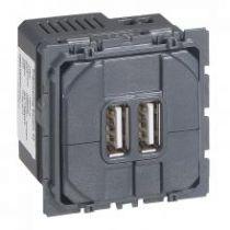 Prise double Céliane pour chargeur USB - 1500 mA (067462)