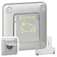 Prise Green\'up Access - 3,2 kVA - mode 2 - IP55 - IK10 - fixation encastré (077897)