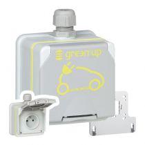 Prise saillie Green\'up Access pour véhicule électrique - Modes 1 ou 2 - IP66 IK08 - 16A 230V (090471)