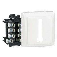 Prise téléphone 8 contacts appareillage saillie composable - blanc