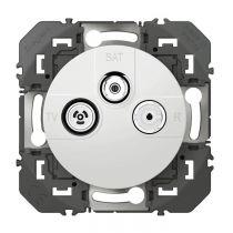 Prise TV-R-SAT 1 câble dooxie finition blanc (600353)