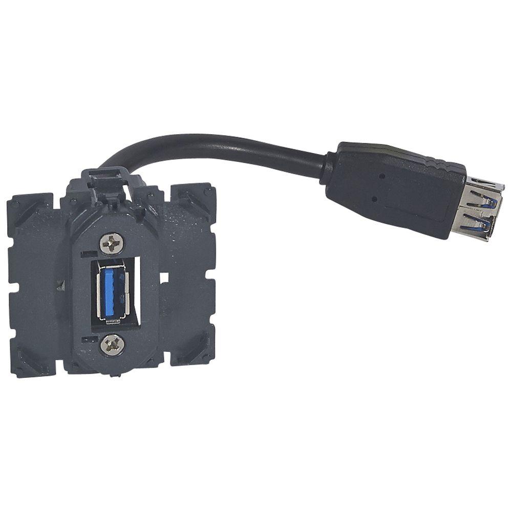 Prise USB femelle Prog. Céliane - pré-connectorisée