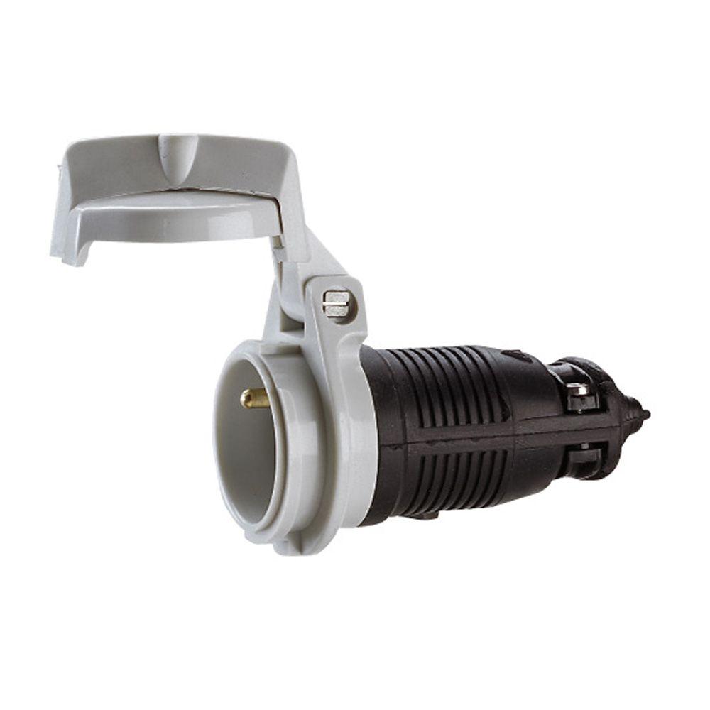 Prolongateur ML - 2P+T - 16 A - caout - sortie dte - IP 65 - noir (050249)