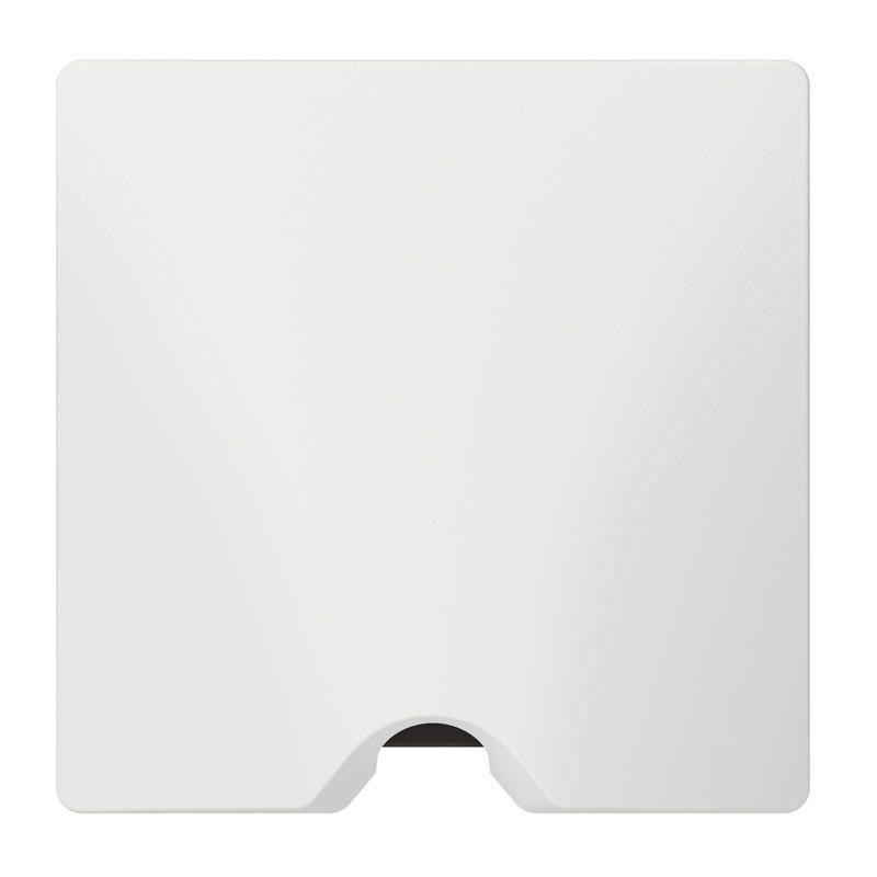 Sortie de câble IP21 dooxie livrée complète avec plaque finition blanc (600323)