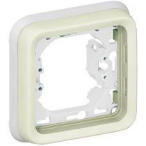 Support plaque - pour encastré Prog Plexo composable blanc - 1 poste